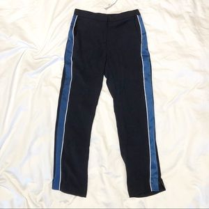Ann Taylor Blue Side Stripe Track Pant
